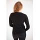 Black V-Neck Cashmere Jersey