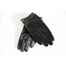 Black Calf Hair and Lamb Leather Gloves