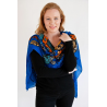 Royal Blue Woollen Long Scarf