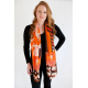 Orange Long Woollen Scarf