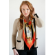 Burnt Orange Medium Square Silk Scarf
