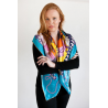 Large Turquoise Square Silk Scarf