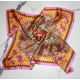 Rose and Mustard Small Square Silk Scarf