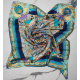 Turquoise Medium Square Silk Scarf